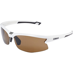 Bliz Motion M5 Glasses shiny white /amber
